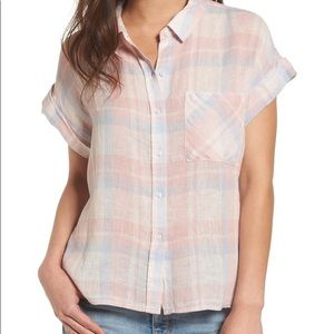 Rails whitney plaid linen button down shirt